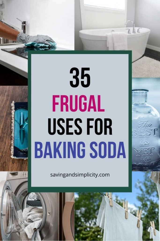 Baking soda is more than just a pantry staple.  It's a pantry staple that can save you a lot of money. Discover over 35 practical money saving uses for baking soda.