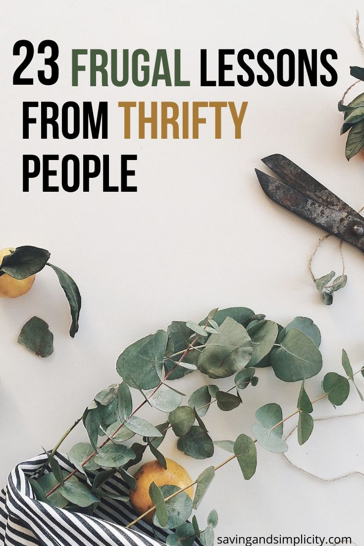 frugal lessons from thrifty people
