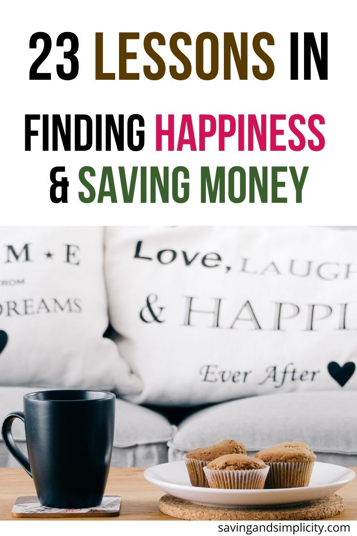 lessons in saving money