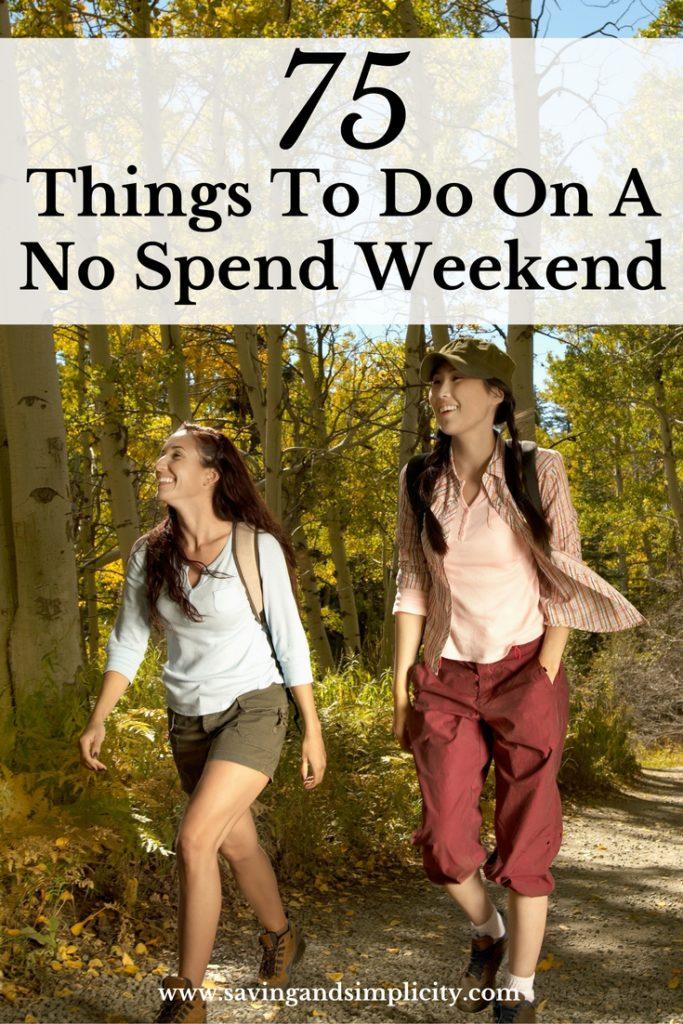 no spend weekend activities
