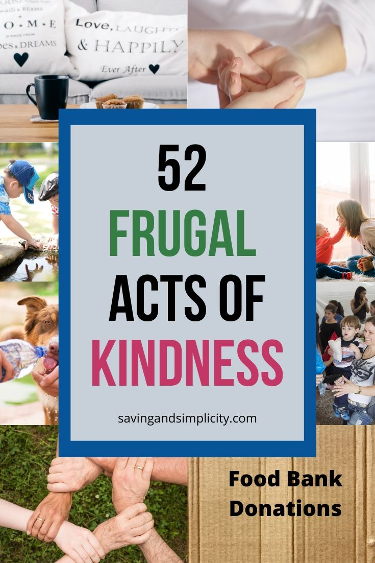 You can make the world an better place! Even on a budget! Discover 52 simple and easy frugal acts of kindness you can do today. Pay it forward.