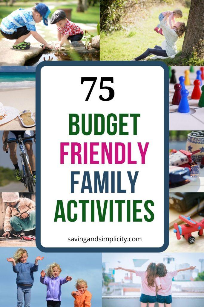 budget friendly activities