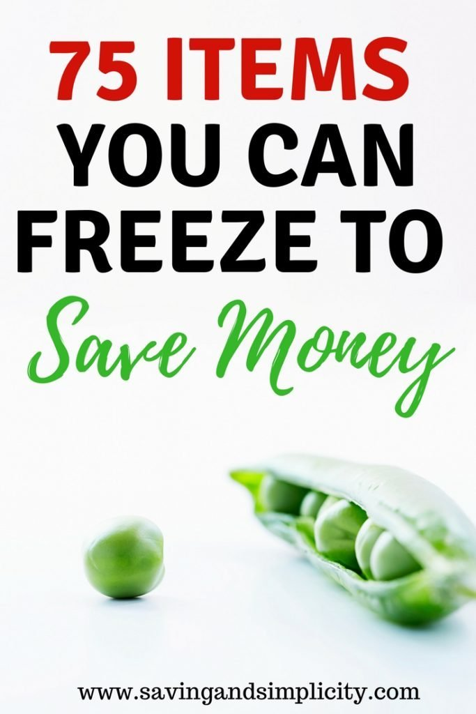 Have you ever wondered what food items you can freeze? More than you think. Learn 75 items you can freeze to save money. Start saving money on your household expenses.