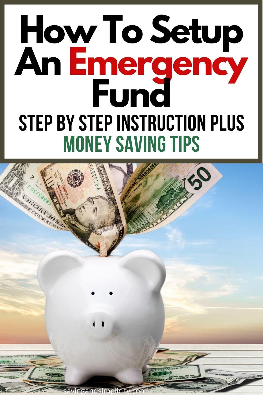 how to setup an emergency fund
