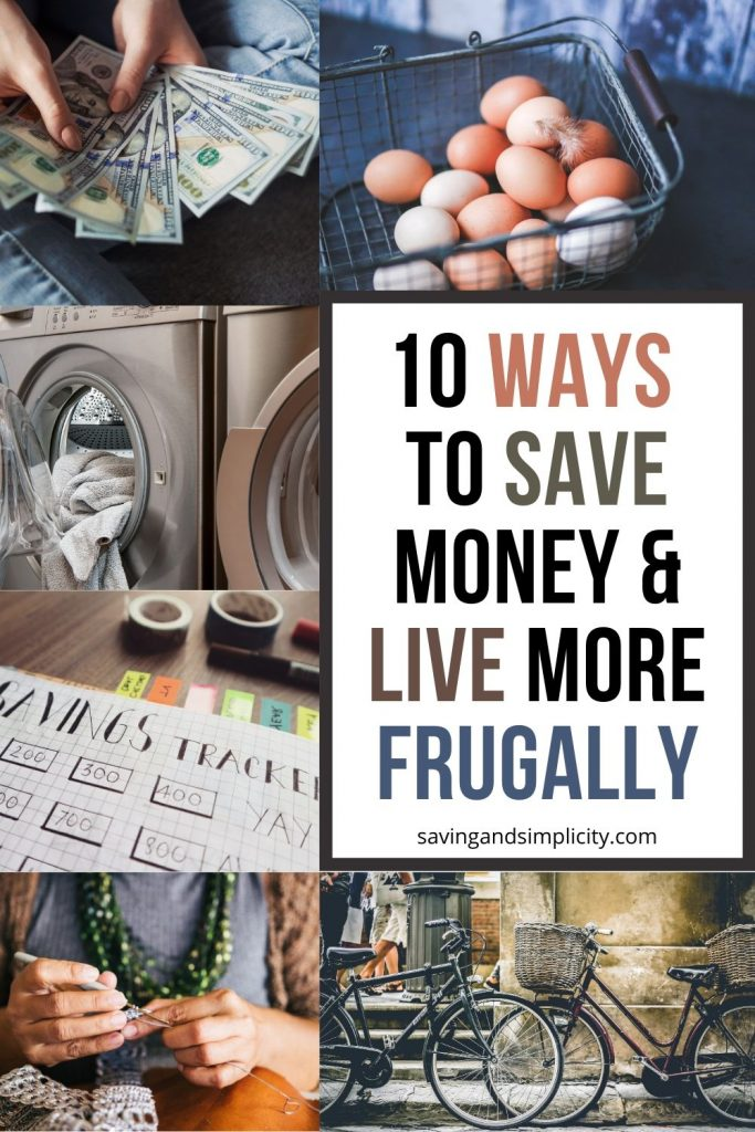 ways to save money and live frugally