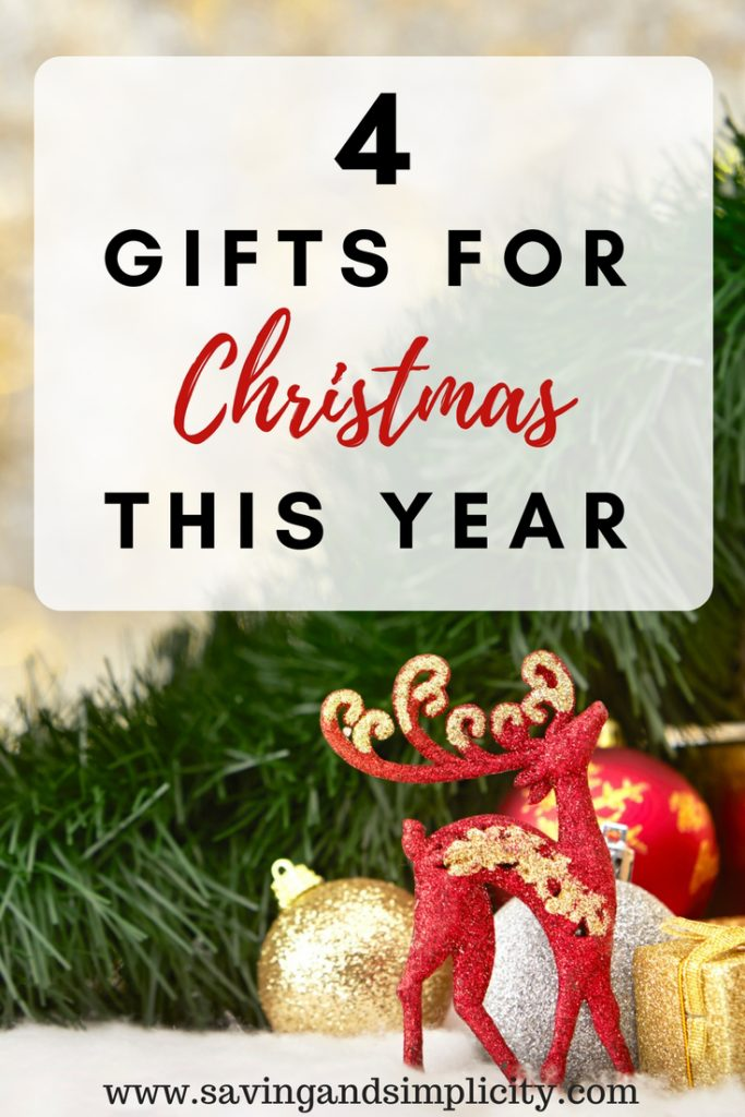 """Have fun this Christmas. Stop the buying of """"stuff"""". Save money. Live more frugally. Take part in a four gift Christmas. Learn how to have a 4 gift holiday."""