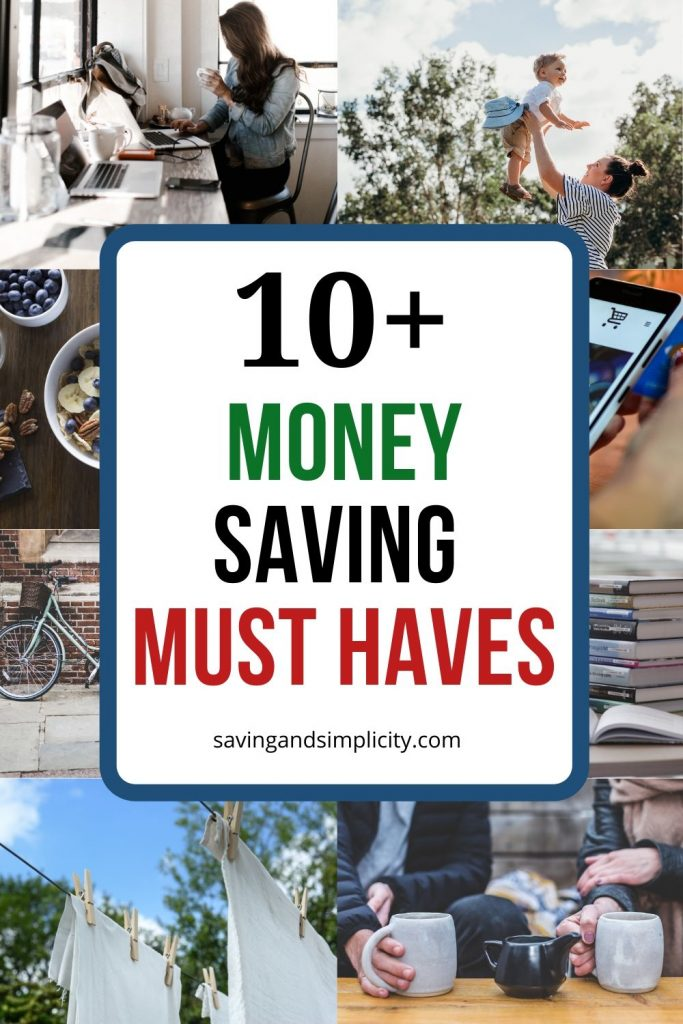 Discover simple ways to save money everyday. 10+ money saving must haves that can help put more money back into your budget, make a dent in your debt and help you save.