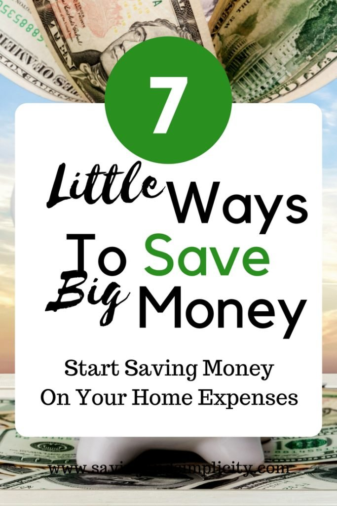 little ways to save big money