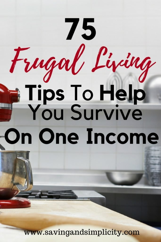 Frugal living tips surviving on one income