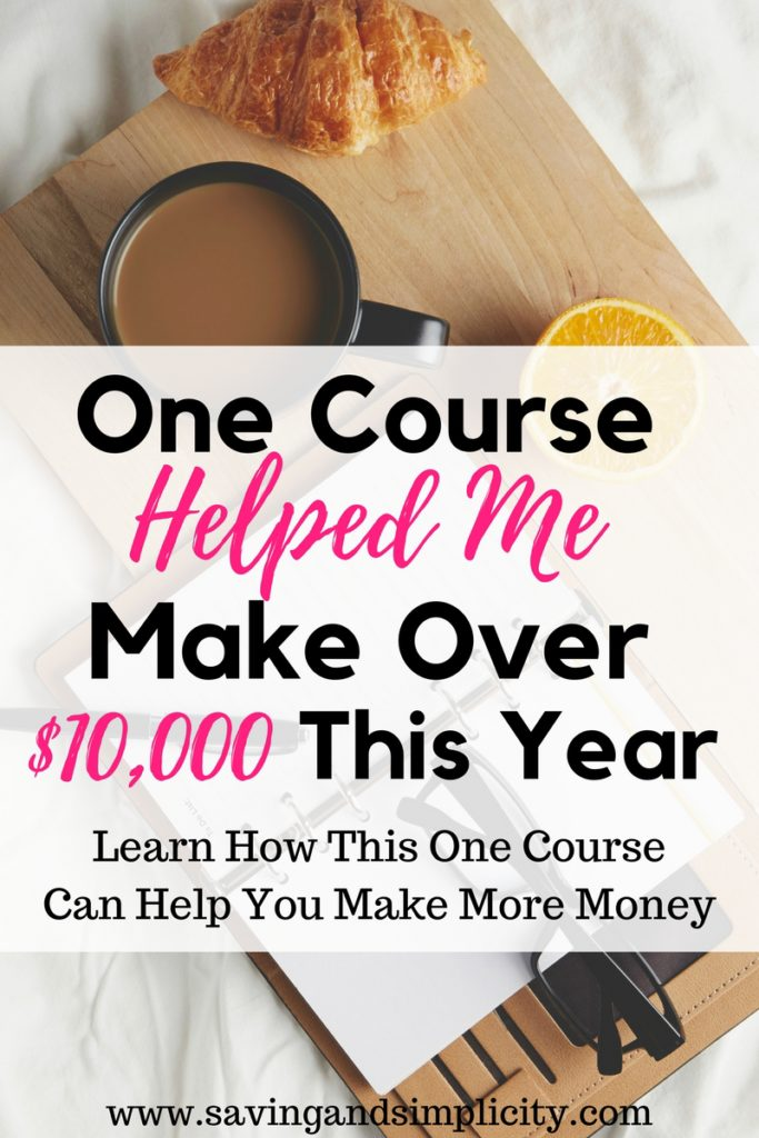 One course made all the difference. I have made over $10,000 blogging. Never in a million years did I think that was possible. Learn how you can do this to.