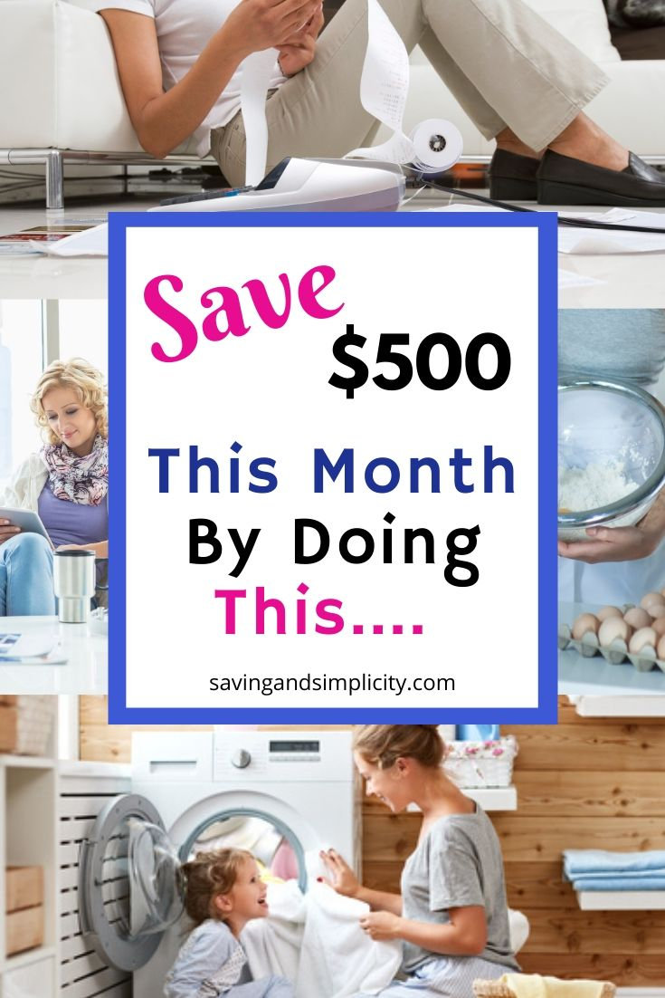 It is a week and a bit till payday. You need to figure out ways to save money now. Save $500 this month on your home expenses by doing these simple things.