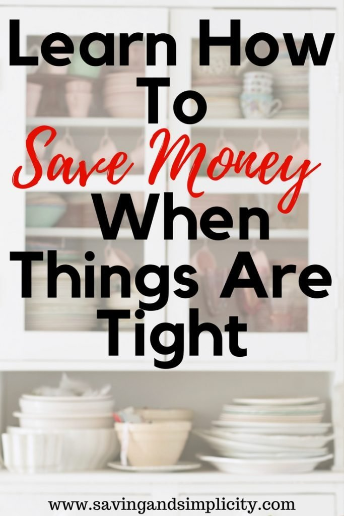 save money when things are tight