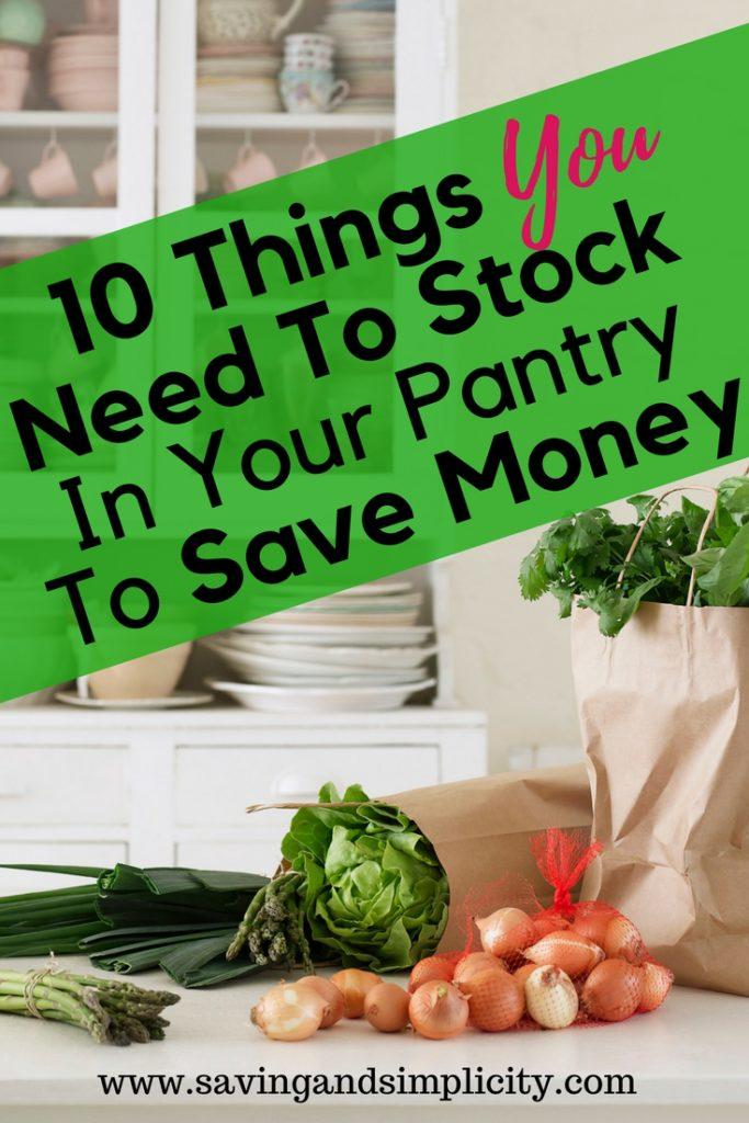 stock pantry