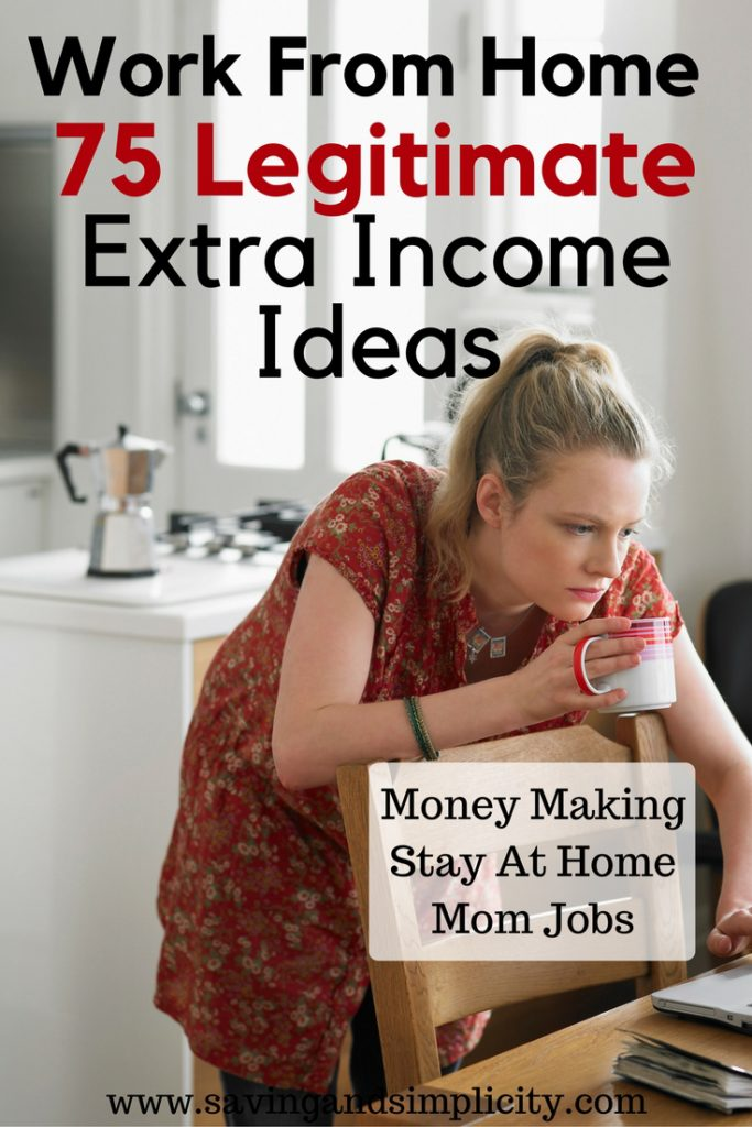 Is the budget too tight? Do you need to make extra money to put food on the table or to pay the mortgage? Are you trying real hard to save money for a family vacation? Here are 75 real work from home jobs that pay good money for stay at home moms, students and side hustles.