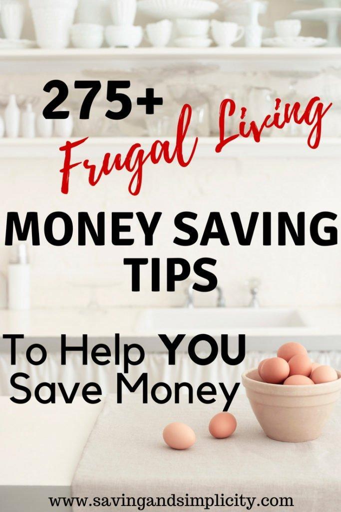 275 frugal living tips