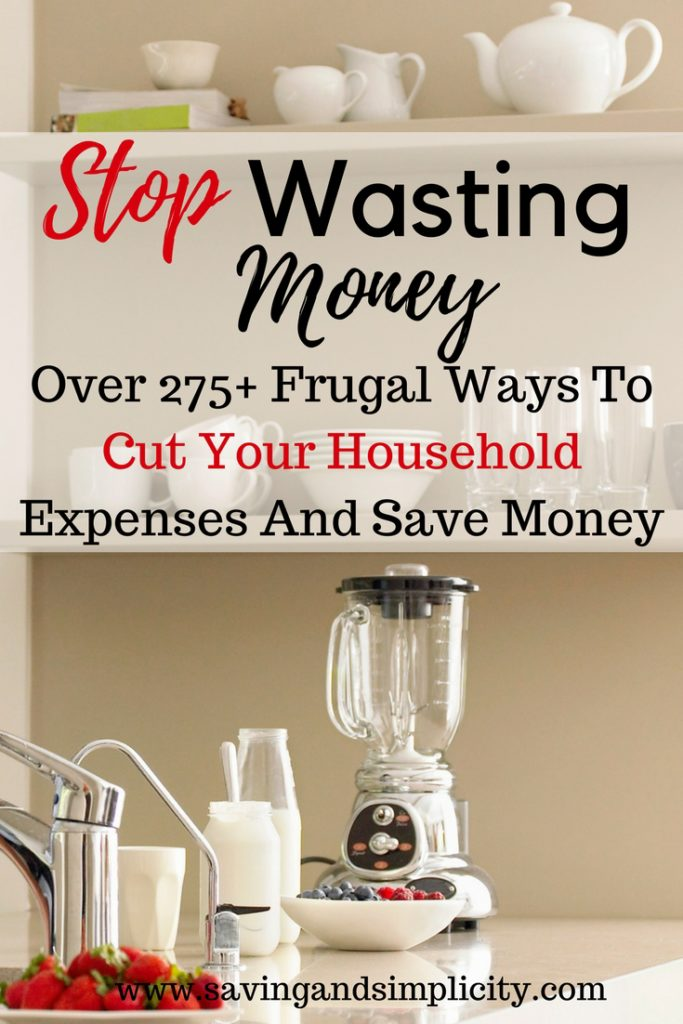 frugal ways to cut household expenses