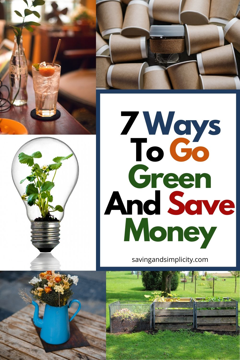 ways to go green and save money