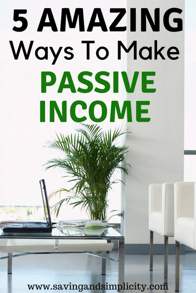 Learn 5 amazing ways to make a passive income. Start making more money today. Work from home. Work from anywhere. Start earning extra money today.