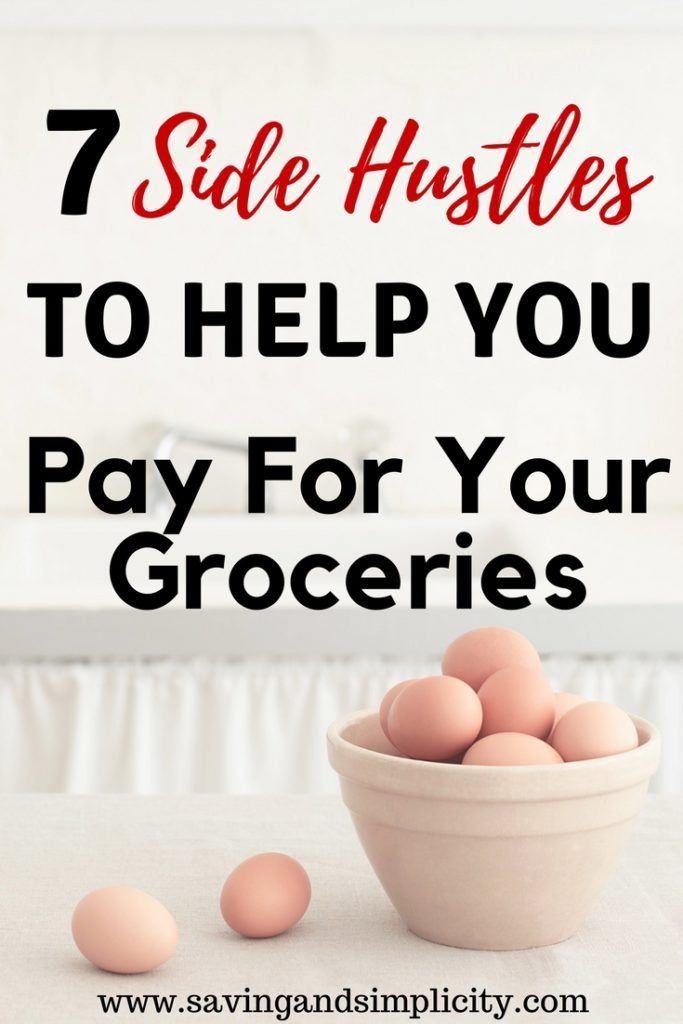 Breakfast, lunch and dinner.Three meals a day, plus snacks and the occasional dessert. Learn how to save money, shop frugally and 7 side hustles to help you pay for your groceries.