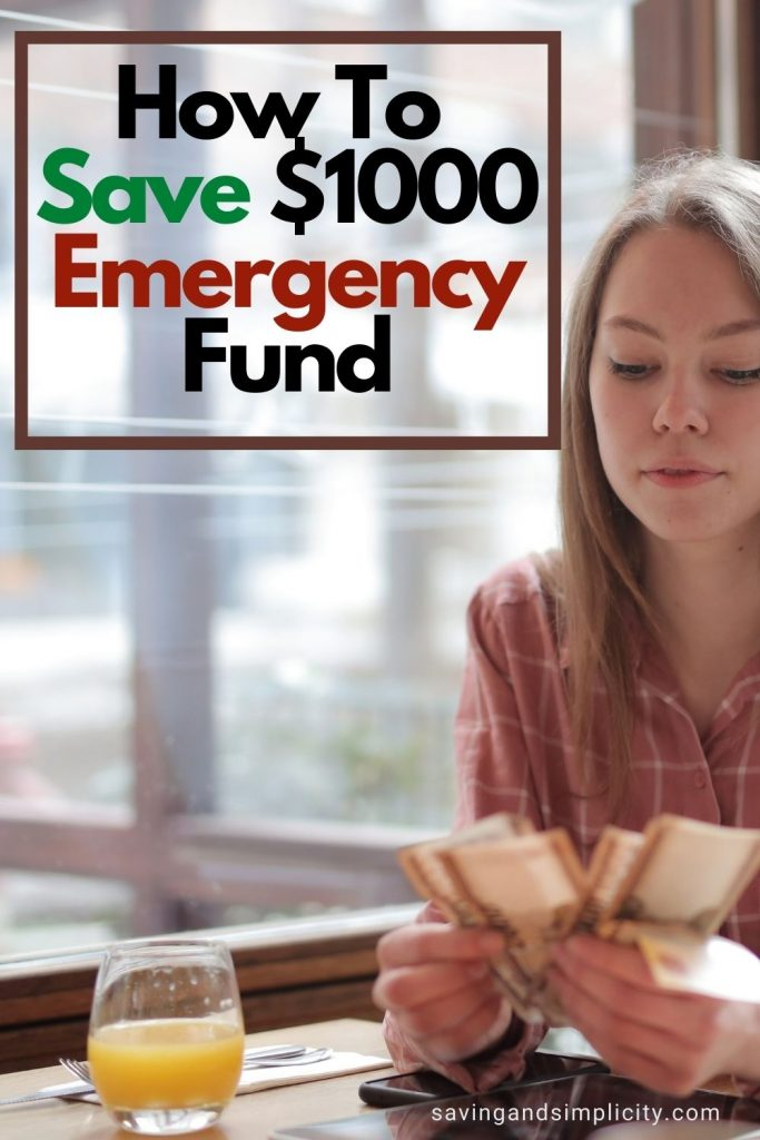 $1000 emergency fund