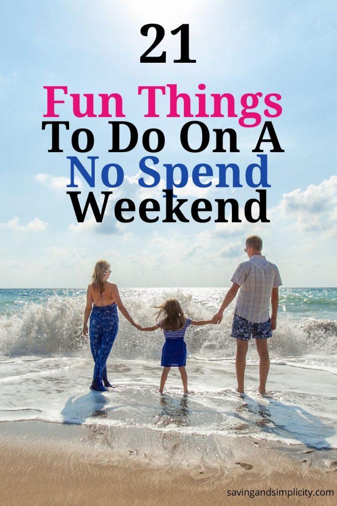 fun things no spend weekend