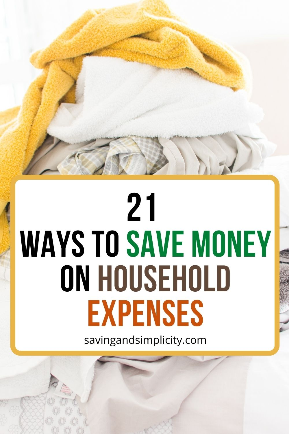save money on household expenses