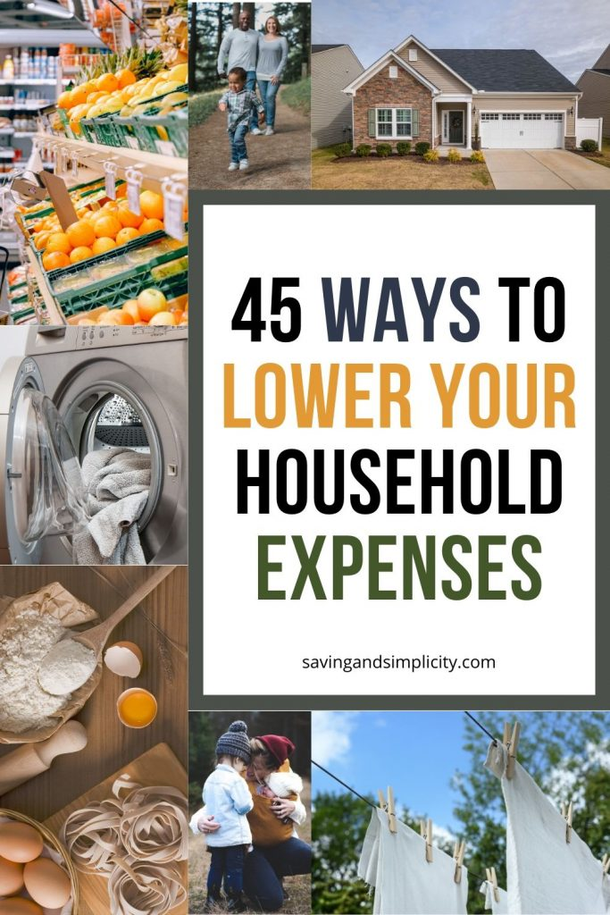 ways to lower household expenses