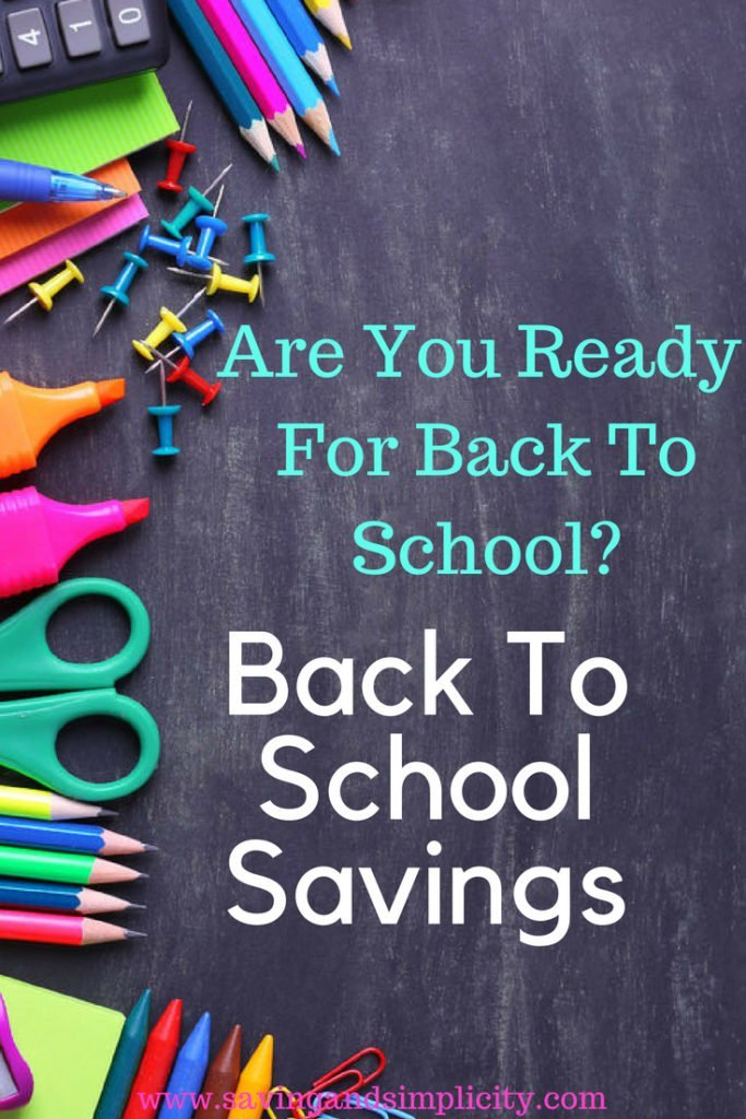 Are you ready for back to school? Learn the tips and tricks to saving money on school supplies and back to school clothes. Back to school savings.