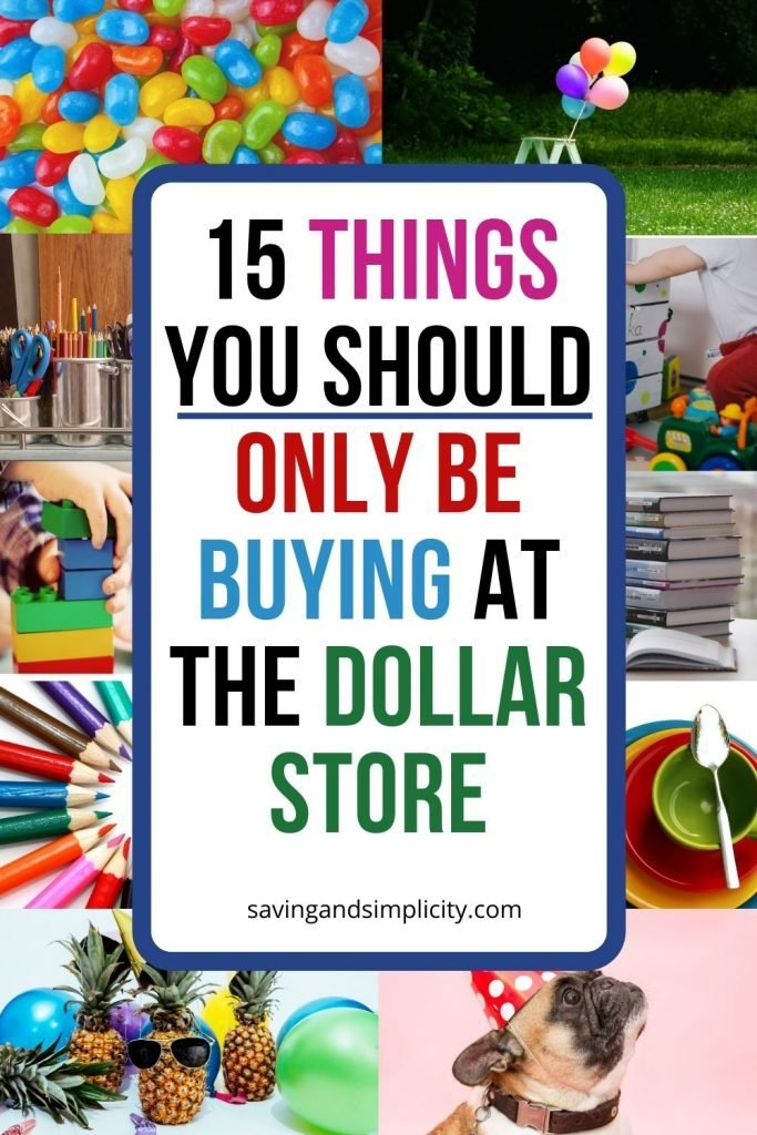 things you should only buy at the dollar store