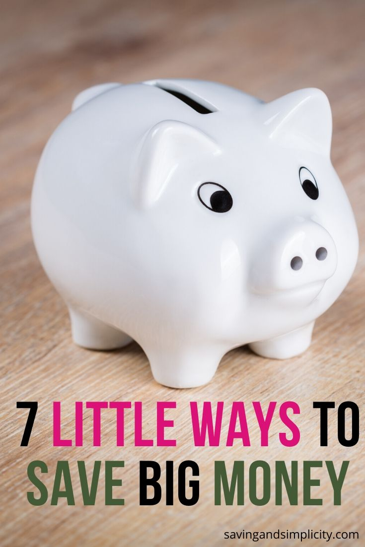 Seven simple little ways to save big money