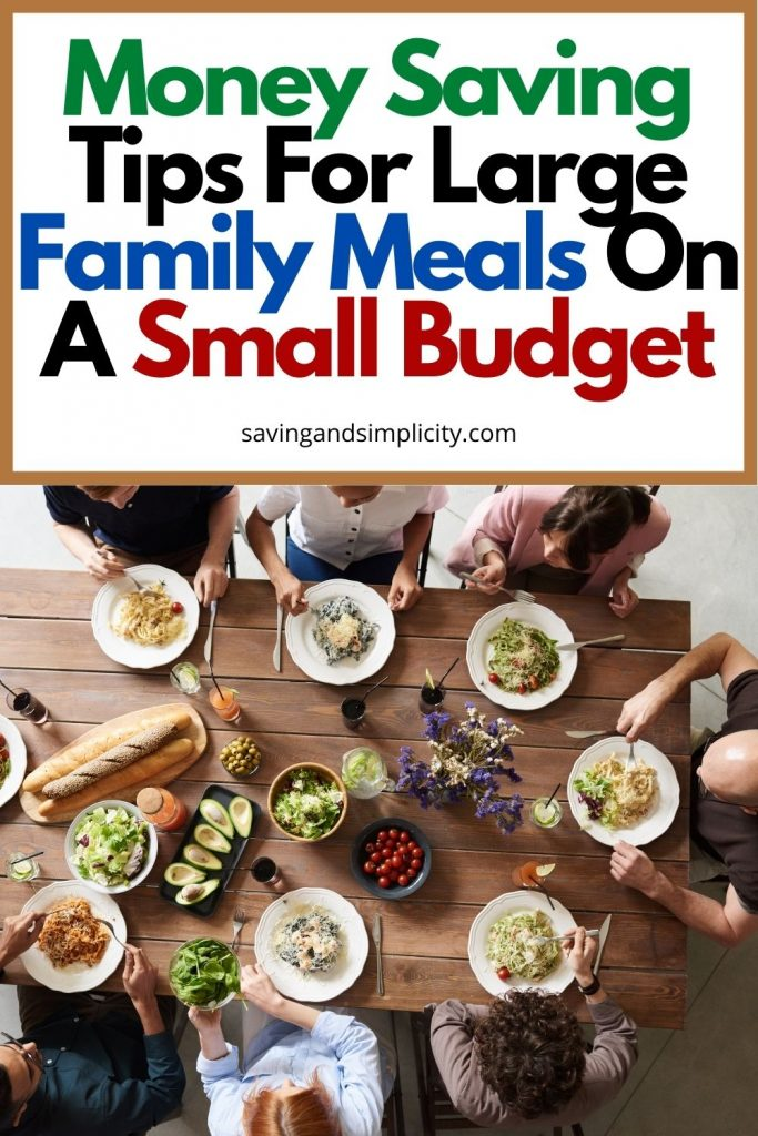 large family meals on a budget
