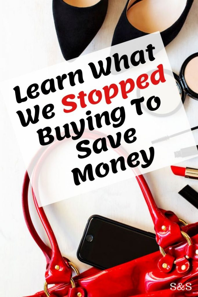 stop buying save money
