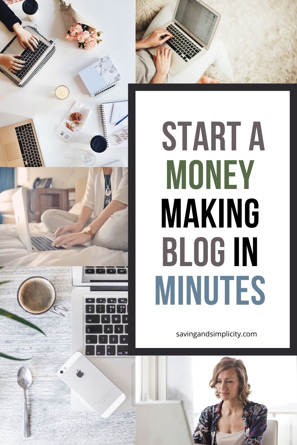 start a blog in minutes