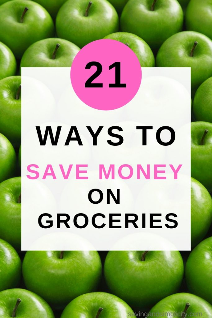 Stop stessing over your grocery budget. Start saving money on groceries today. 15 easy ways to help you save money on groceries.