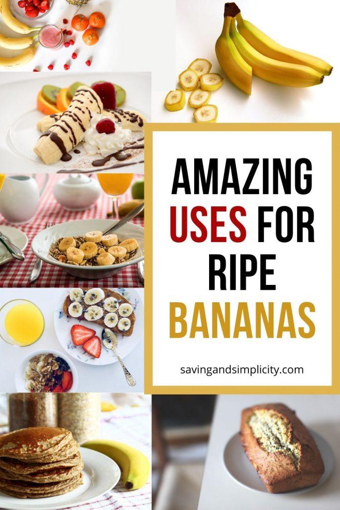 uses ripe bananas