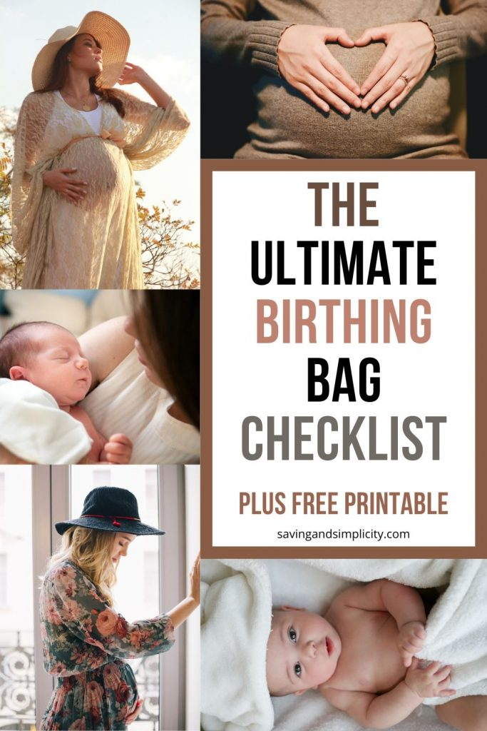 birthing bag checklist