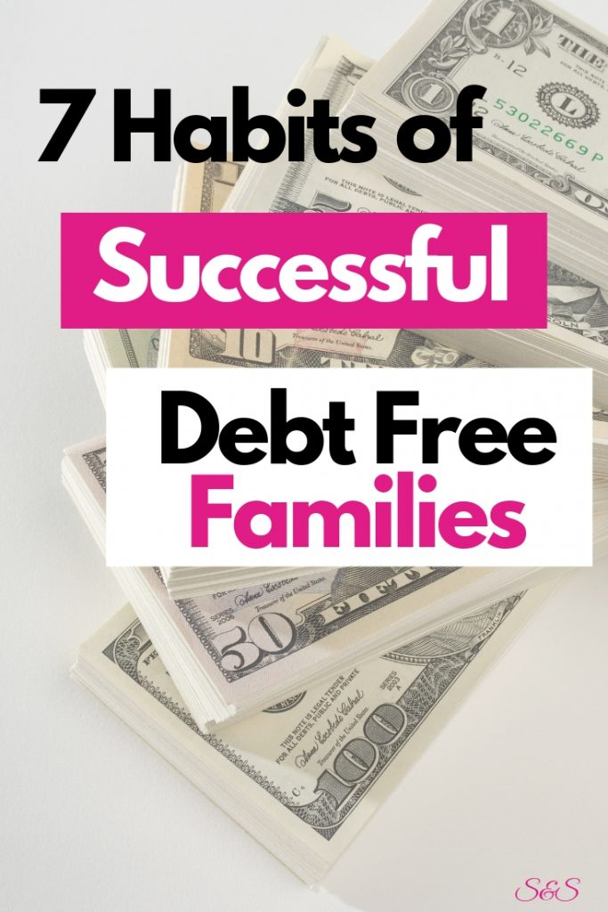 habits of successful debt free families