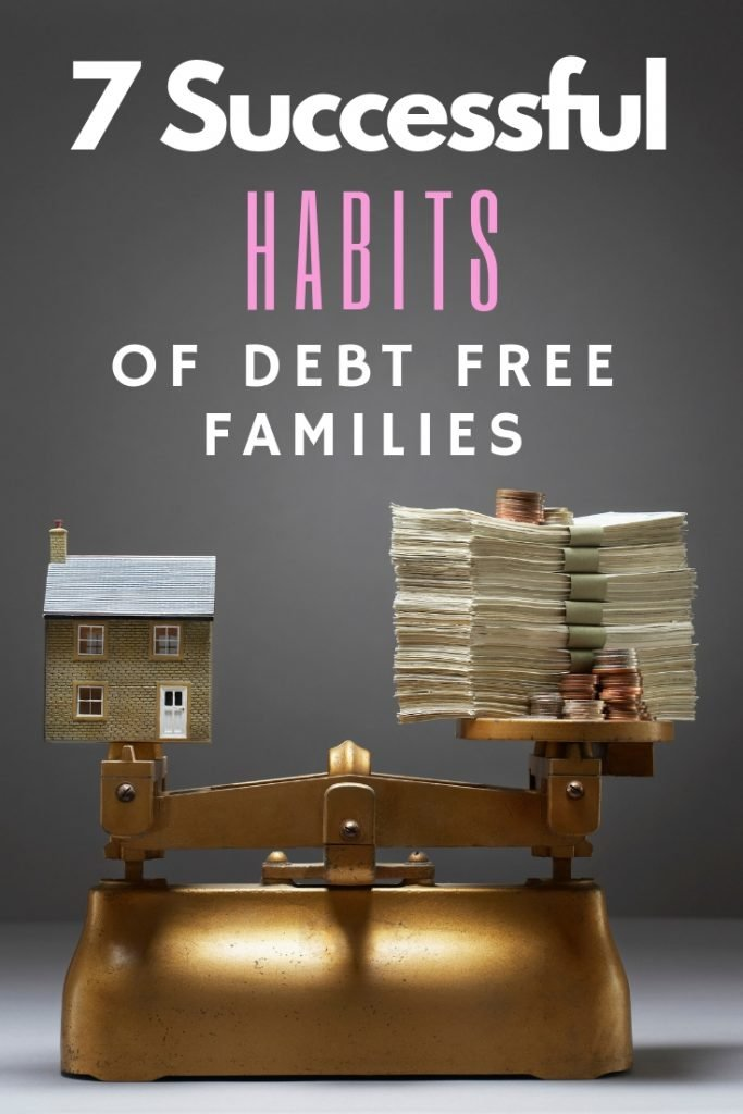 Habits of successful debt free families. Simple, smart money tips to help you pay down your debt and succeed. Budgeting, shopping sales and so much more.