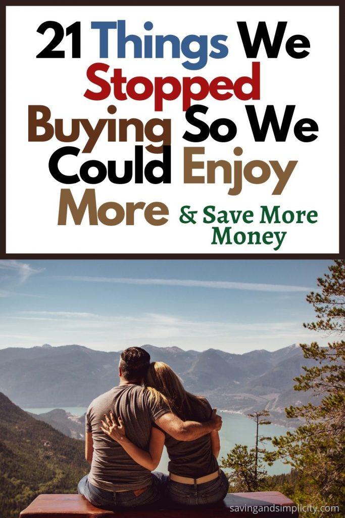 stopped buying