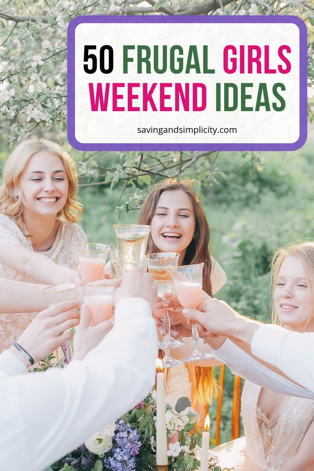 frugal girls weekend ideas