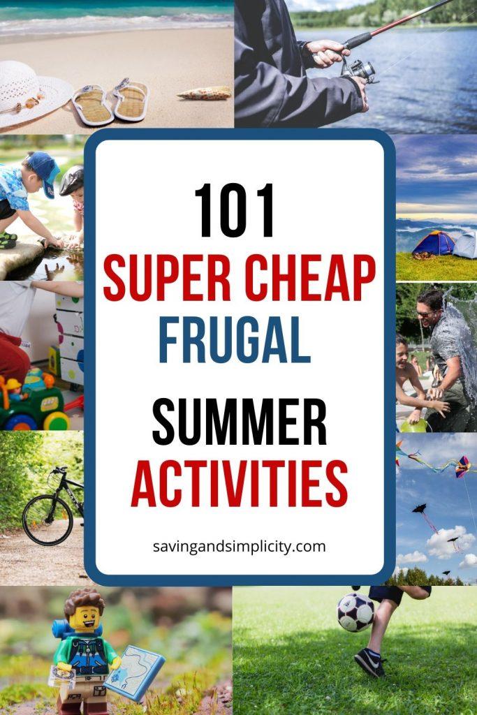 cheap summer activities kids