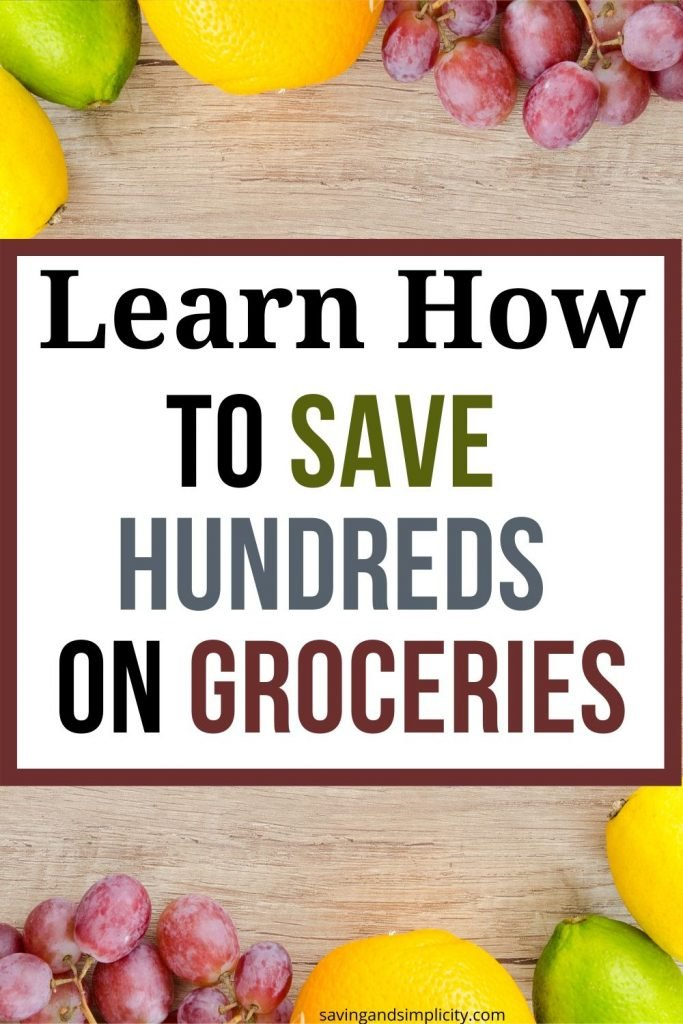 save hundreds on groceries