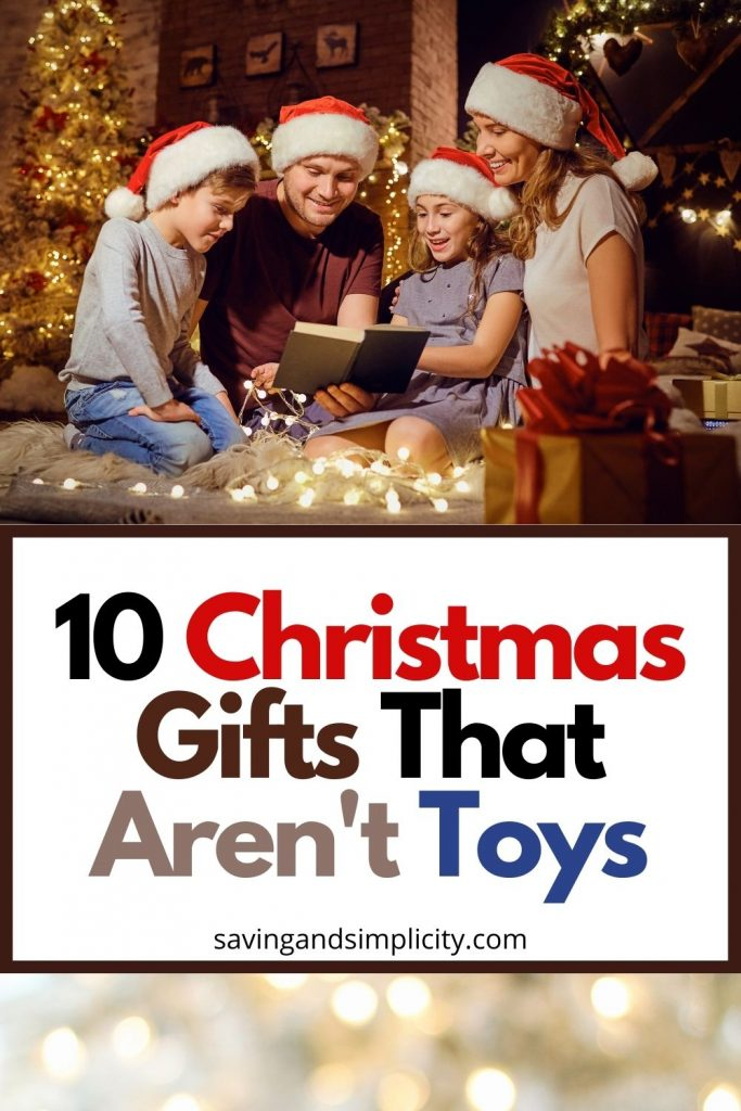 Christmas gifts that aren't toys
