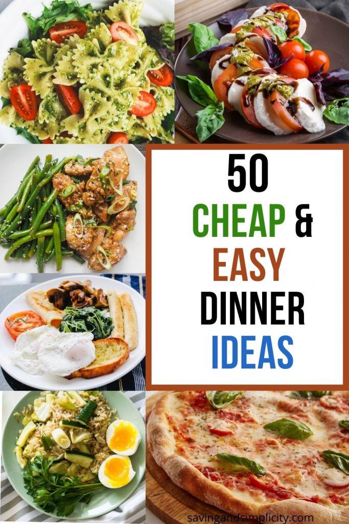 cheap and easy dinner ideas