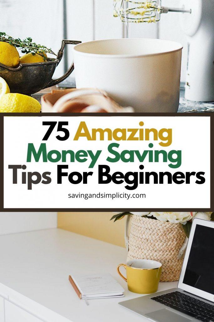 money saving tips for beginners