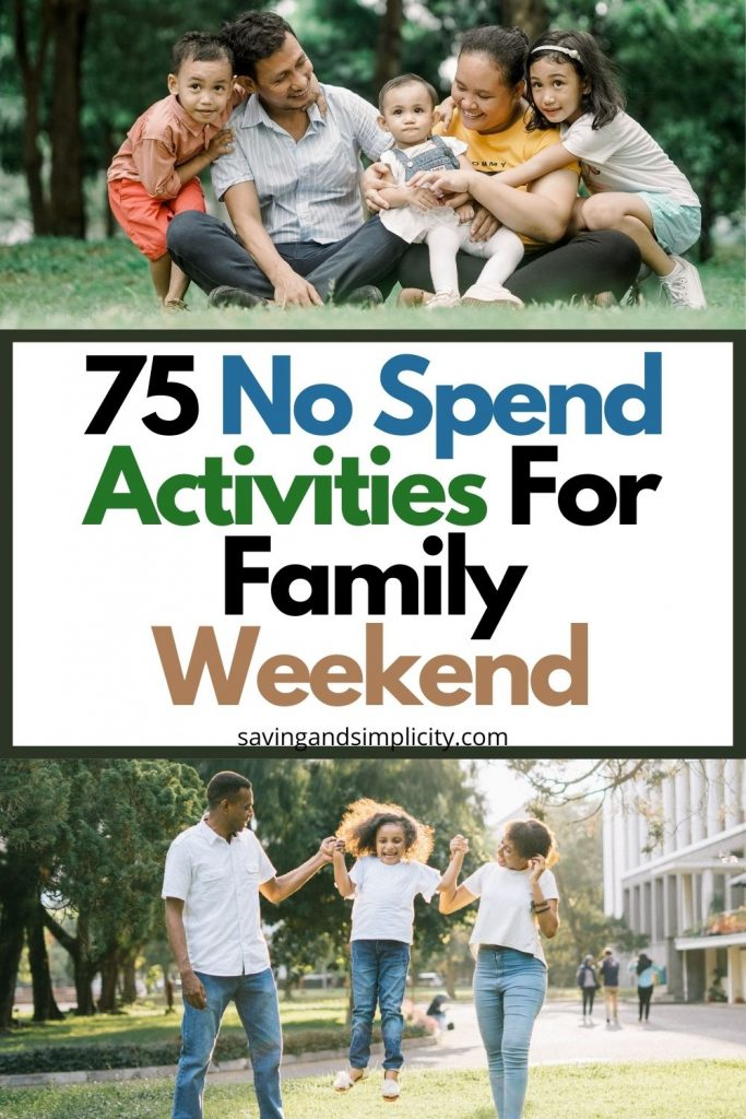 no spend family activities