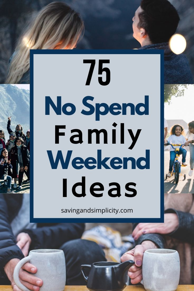 75 no spend weekend ideas
