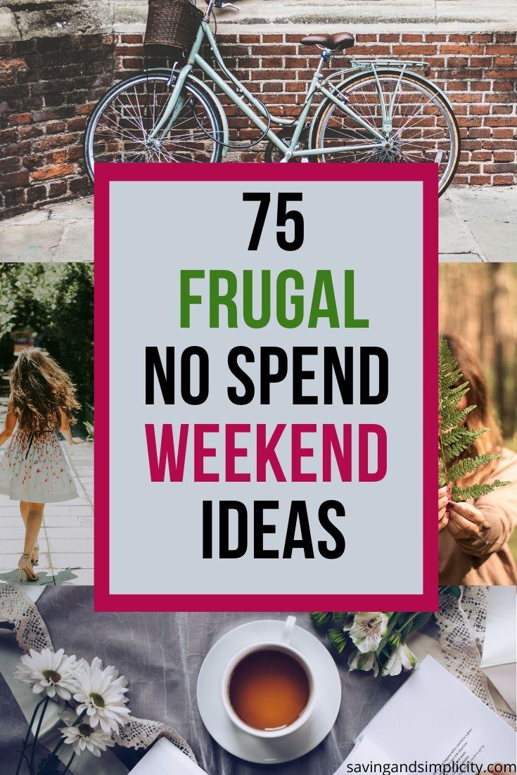 frugal no spend weekend ideas