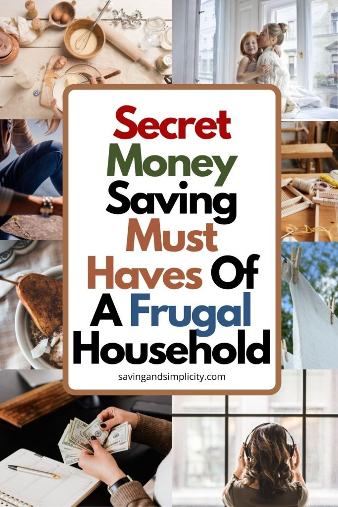 frugal household must haves