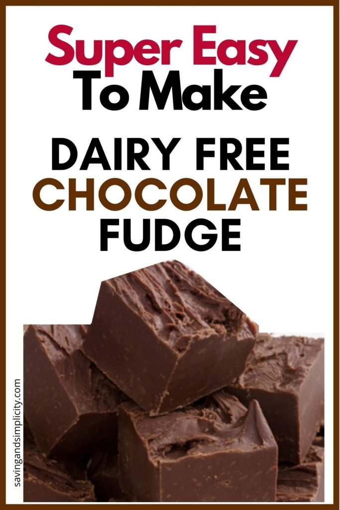 dairy free fudge